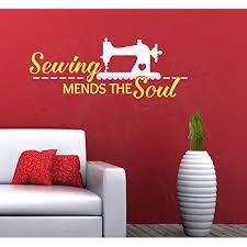 Sewing Mends The Soul Vinyl Lettering Art Home Decor Wall Stickers 23x9 Multicolor Walmart Com Walmart Com