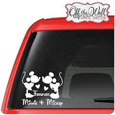 Personalized Mickey Minnie Forever Vinyl Car Truck Vehicle Laptop Decal Sticker B01brngyas