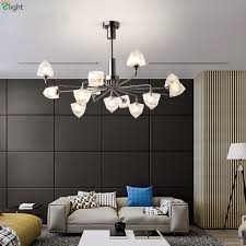 ice cube glass led chandeliers lighting