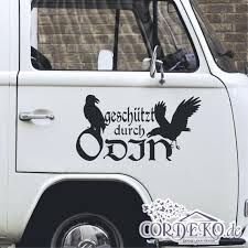 Car Decal Vikings Protected By Odin Viking Valhalla Vinyl Etsy