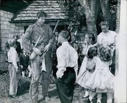 CA5 1960's Fess Parker Daniel Boone Davy Crockett School Children Press  Photo | #1791241075