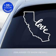California State Love Decal Ca Love Car Vinyl Sticker Add Heart To A City Ebay