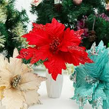 tree decor ornament poinsettia