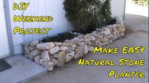 dry stone rock planter diy