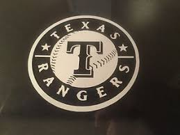 Texas Rangers 5x5 White Car Decal Sticker Ebay