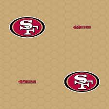 san francisco 49ers logo pattern gold