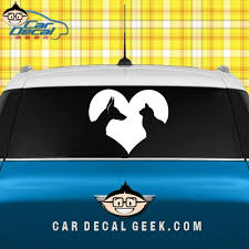 Cat Dog Heart Lover Car Decal Graphic Window Stickers