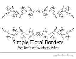 free hand embroidery design