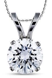 round cut diamond solitaire pendant