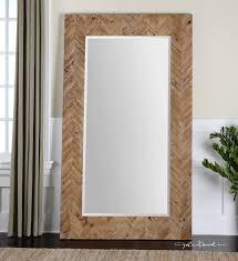 leaner large wood wall floor mirror xl