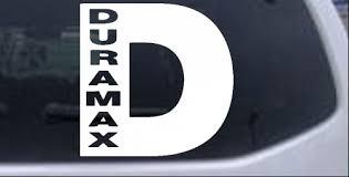 Duramax Diesel D Car Or Truck Window Decal Sticker Rad Dezigns