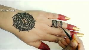 mehndi design back side simple design