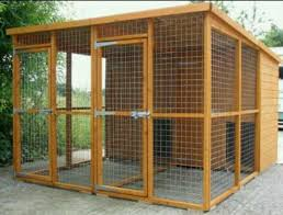 Outdoor Dog Kennel Wouldn T Need The Fencing Though Porch For Shade And Rain Protectant Dog Cage Outdoor Dog Kennel Designs Dog Kennel And Run
