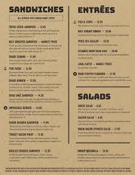 Daily Menu - Seafood Shack