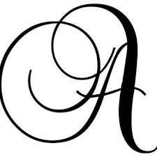 Letter N Wall Decal Cursive Alphabet Monogram Wall Decals Lettering
