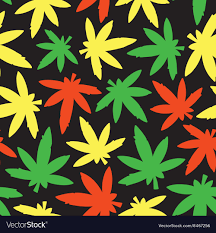 marihuana ganja weed seamless pattern