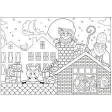 Bol Com 30x Papieren Sinterklaas Kleurplaat Placemat