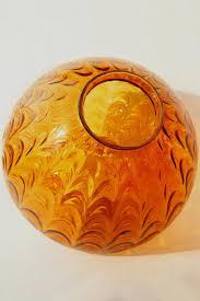 vintage amber glass pendant light