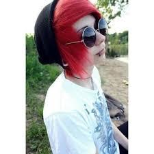 emo boy red hair guy s scene hair