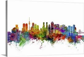 Tokyo Japan Skyline Wall Art Canvas Prints Framed Prints Wall Peels Great Big Canvas