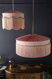 blush pink silk tiffany lamp shade
