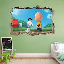 The Peanuts Movie Snoopy Charlie Brown 3d Window Decal Wall Sticker Art H485
