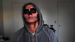 men makeup natural skull