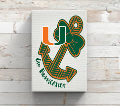 Univeristy Of Miami Hurricanes Anchor Bow Vinyl Car Decal Coffee Mug Canvas Decor College Yeti Canvas Decor Car Decals Vinyl Miami Hurricanes