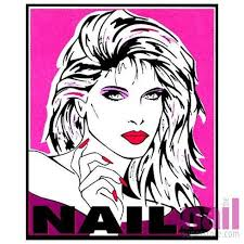 Salon Window Decoration Decal Face And Hand 24 X36 Each
