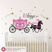 Princess Horse Carriage Wall Decal Personalized Graphic Spaces