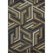 orren ellis ramage gray gold area rug