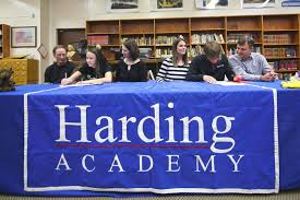 Abigail Howell and Josh Hinkle sign to run track in college — Harding  Academy of Memphis