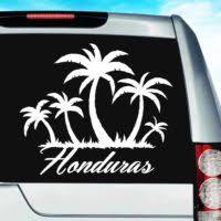Virgin Islands Palm Tree Island Vinyl Car Window Decal Sticker