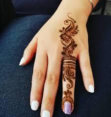 One Finger Mehndi Design 2020
