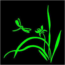 Dragonfly Flowers Decal Custom Vinyl Car Truck Window Mailbox Sticker Customvinyldecals4u