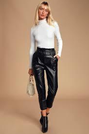 j o a black pants vegan leather
