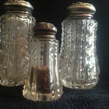american brilliant cut glass shaker set