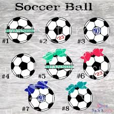 Soccer Ball Soccer Ball Decal Personalized Soccer Decal Soccer Sticker Monogram Decal Soccer Personalized Soccer Coach Gifts