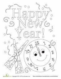 happy new year coloring sheet best quotes new years crafts and