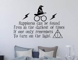 Potter Wall Decal Quote Happiness Can Be Found Potter Magical Flash Glasses Wall Vinyl Sticker Wall Art Decal Boys Wall Decals Boys Wall Stickers From Onlinegame 11 04 Dhgate Com