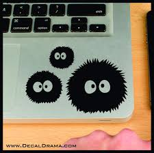 Soot Sprites Susuwatari My Neighbor Totoro Inspired Vinyl Car Laptop Decal My Neighbor Totoro Personalized Decals Laptop Decal