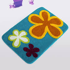 Dancing Flowers Royal Blue Kids Room Rugs 19 7 By 31 5 Inches