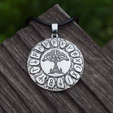 life pendant nordic viking runes amulet