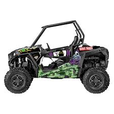 D Cor Visuals 20 60 102 Grave Digger Style Utv Graphic Kit Powersportsid Com