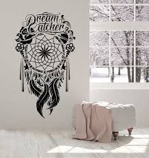 Vinyl Wall Decal Dream Catcher Ornament Feathers Bedroom Talisman Stic Wallstickers4you
