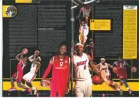 """Quintanar del Rey y Duane James en la Revista Gigantes del Basket """"El Primo  del mejor jugador de baloncesto del mundo: Lebrón James"""""""