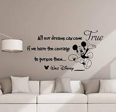 Amazon Com All Our Dreams Can Come True Wall Decal Disney Poster Sign Mickey Mouse Quote Disney Vinyl Sticker Kids Room Decor Playroom Wall Made In Usa Fast Delivery Home Kitchen