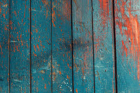 Wooden Fence Texture Wooden Fence Painted In Blue And Orange Color Stock Photo Download Image Now Istock