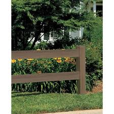 Veranda 5 In X 5 In X 5 Ft Vinyl Weathered Cedar Ranch 2 Rail Fence End Post 169102 The Home Depot