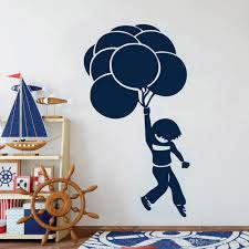 Balloon Wall Stickers For Kids Room Flying Boys Wall Decals Decor Living Room Vinyl Wall Sticker For School Classroom Wall Stickers For Home Wall Stickers For Home Decoration From Joystickers 10 4 Dhgate Com